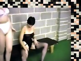 lesbians stockings fighting